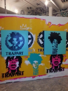 Basquiat influences on the wall