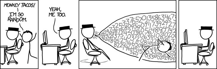 human vs. computer randomness